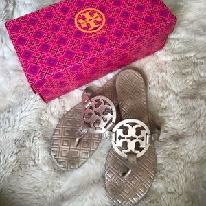 Tory Burch Miller Sandals in Rose Gold